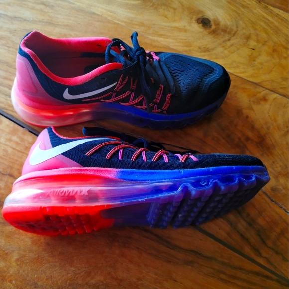 Nike Air Max 2015 size 7 black/ orange / grape